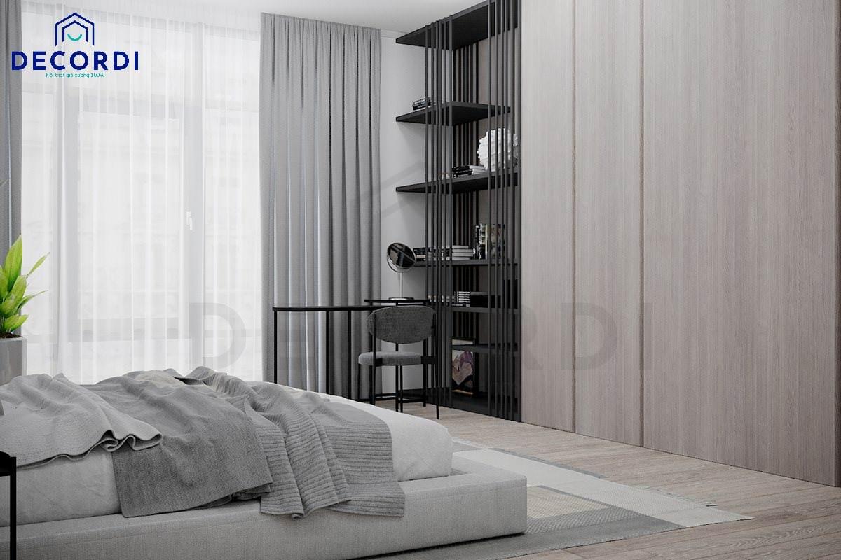 không gian phòng ngủ đơn giản cho nhà nhỏ