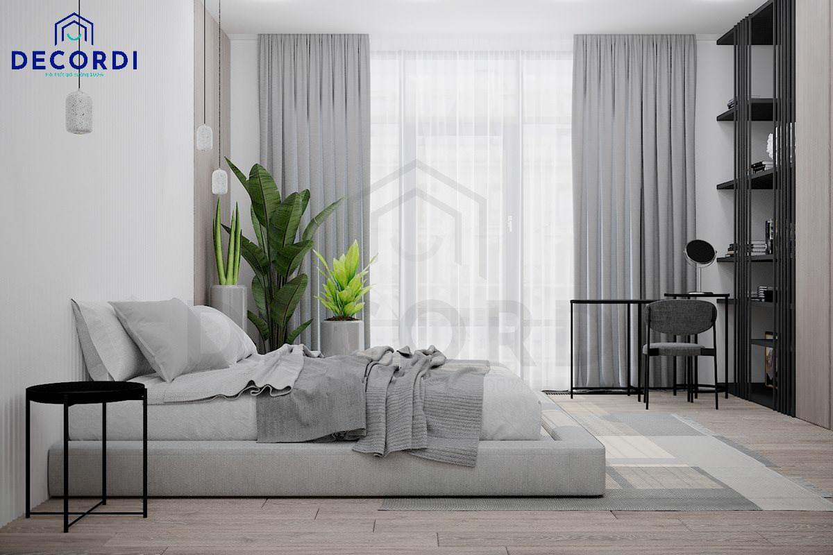 phòng ngủ master phong cách tối giản