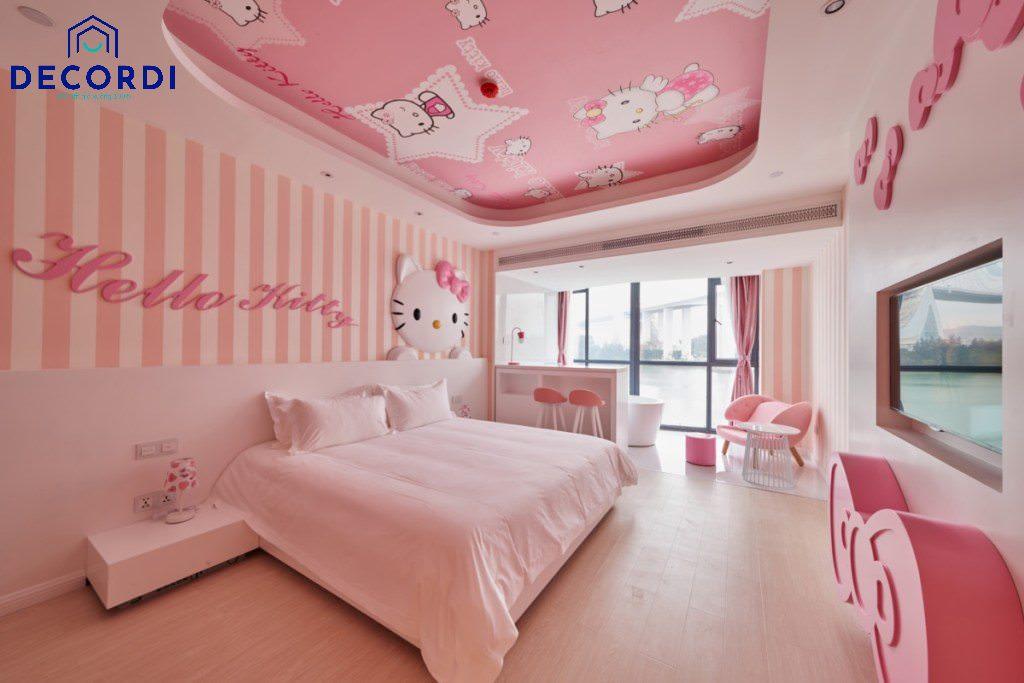 Trang tri phong ngu Hello Kitty 21
