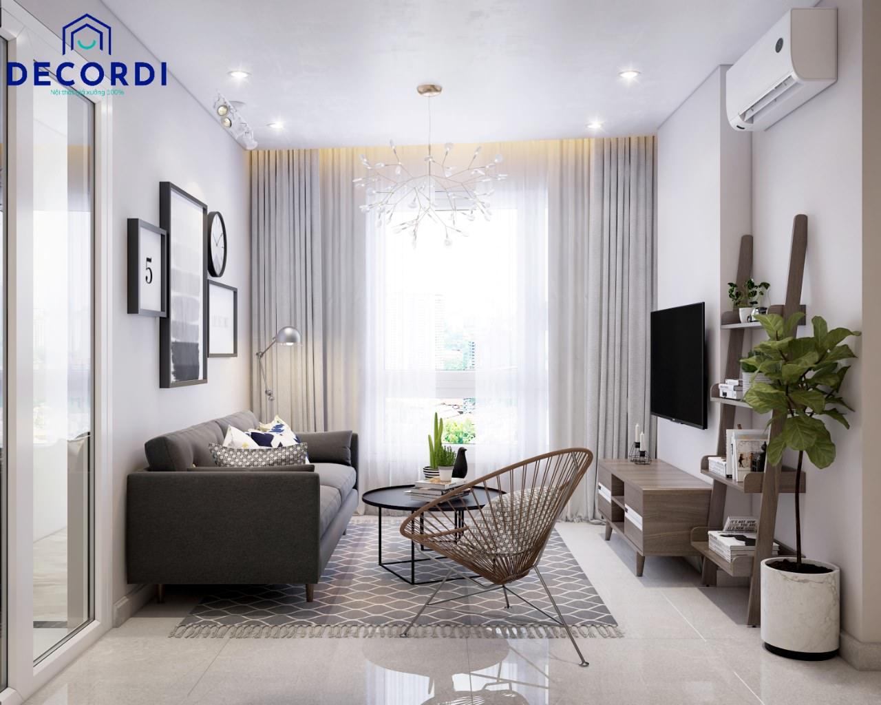 Phòng khách chung cư tiện nghi hơn với những mẫu kệ trang trí đẹp