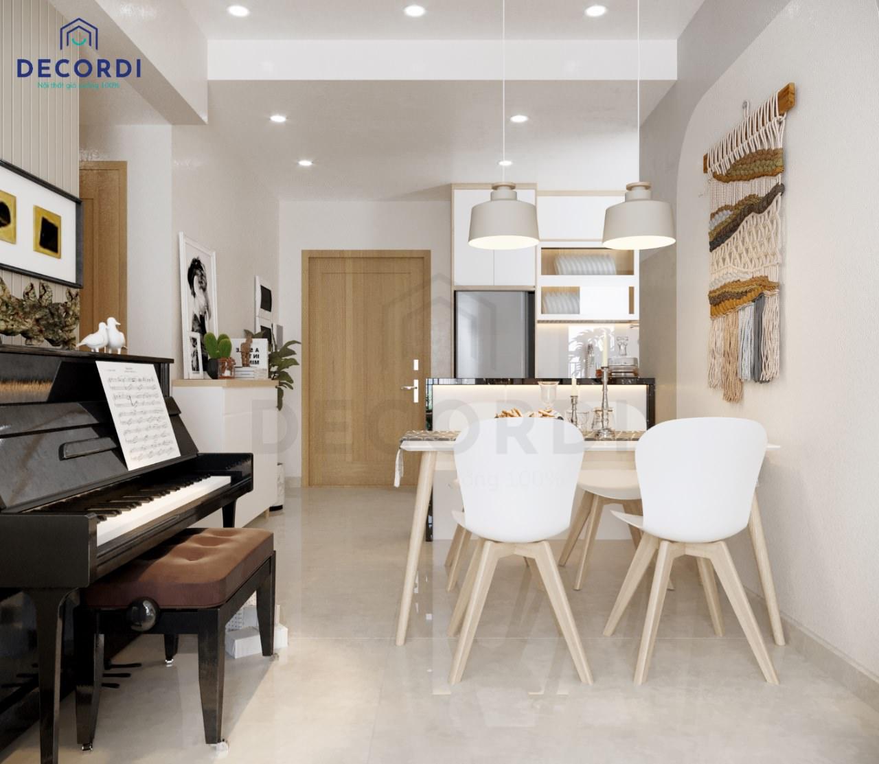 dan piano canh ban an noi that Decordi