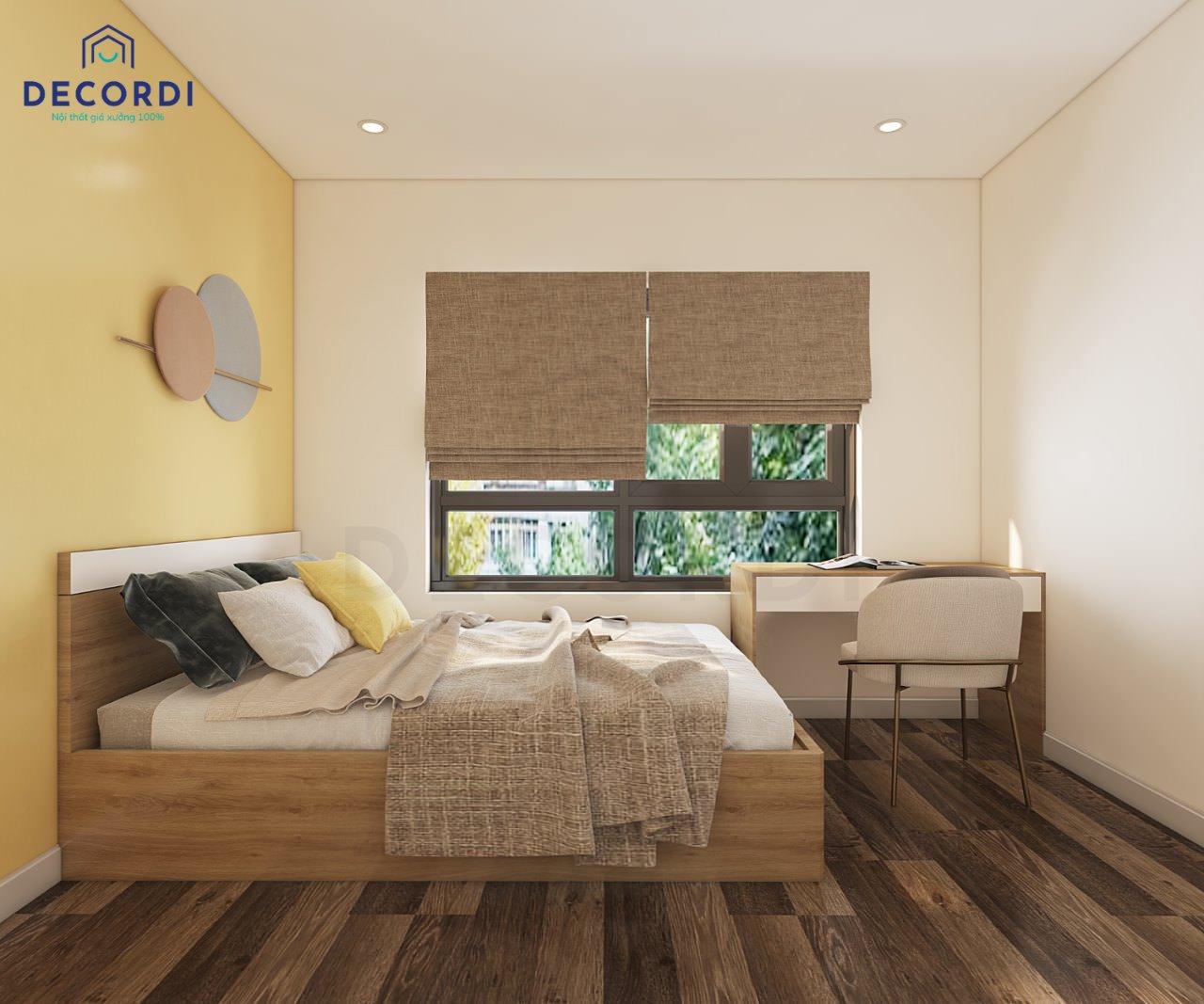nội thất cho phòng ngủ nhỏ tiện nghi