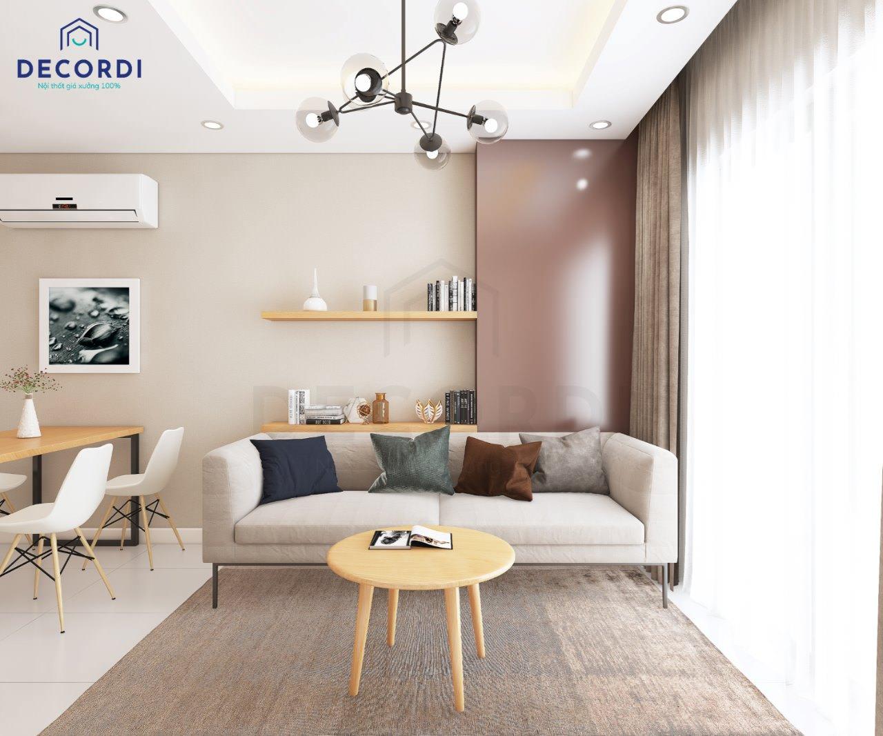 sofa chu I phong khach noi that Decordi 2