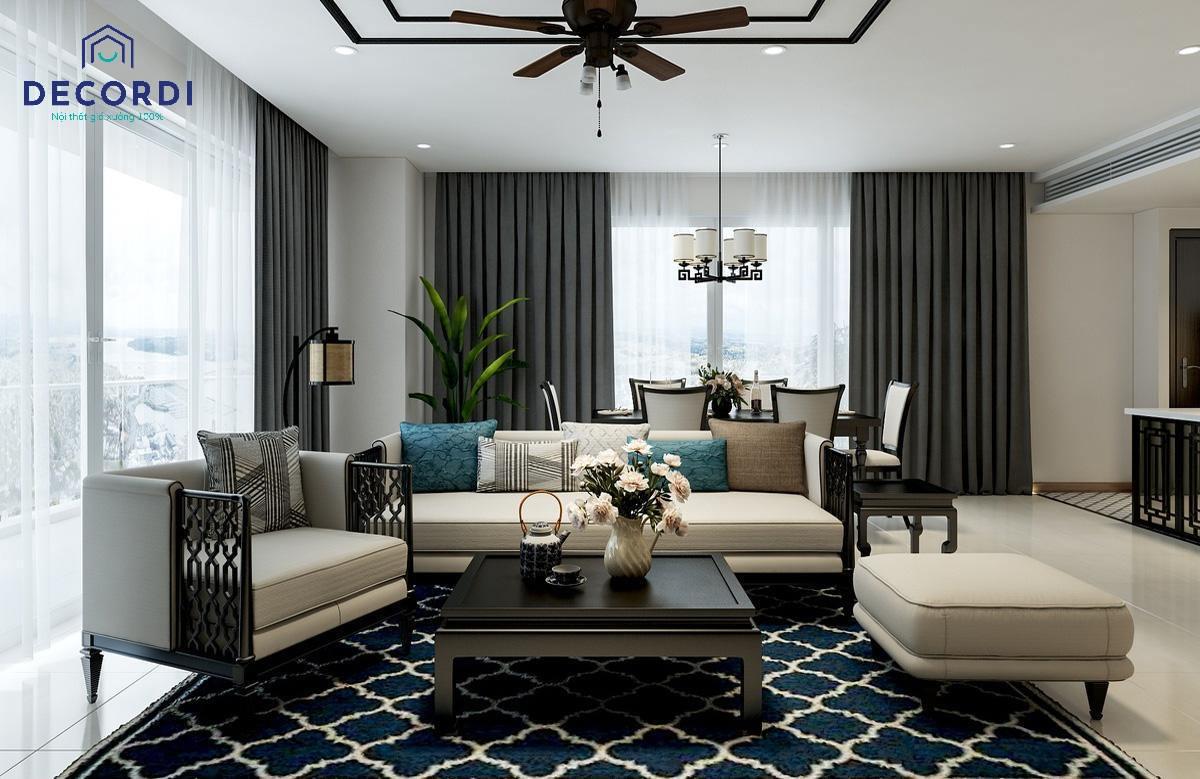 Diện tích phòng khách ảnh hưởng nhiều đến cách bố trí nội thất sao cho phù hợp với không gian