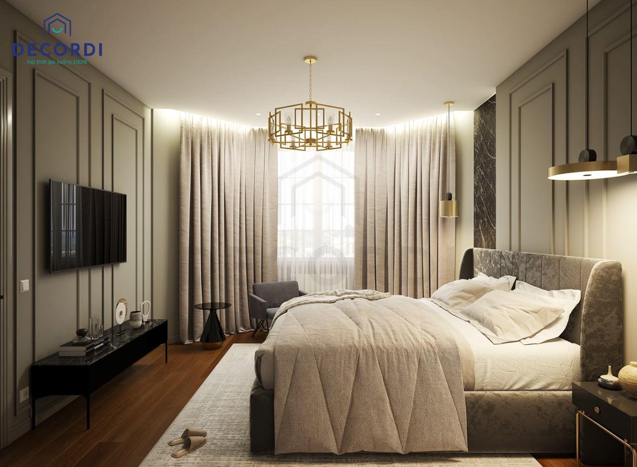 Không gian nội thất phòng ngủ cao cấp, hiện đại