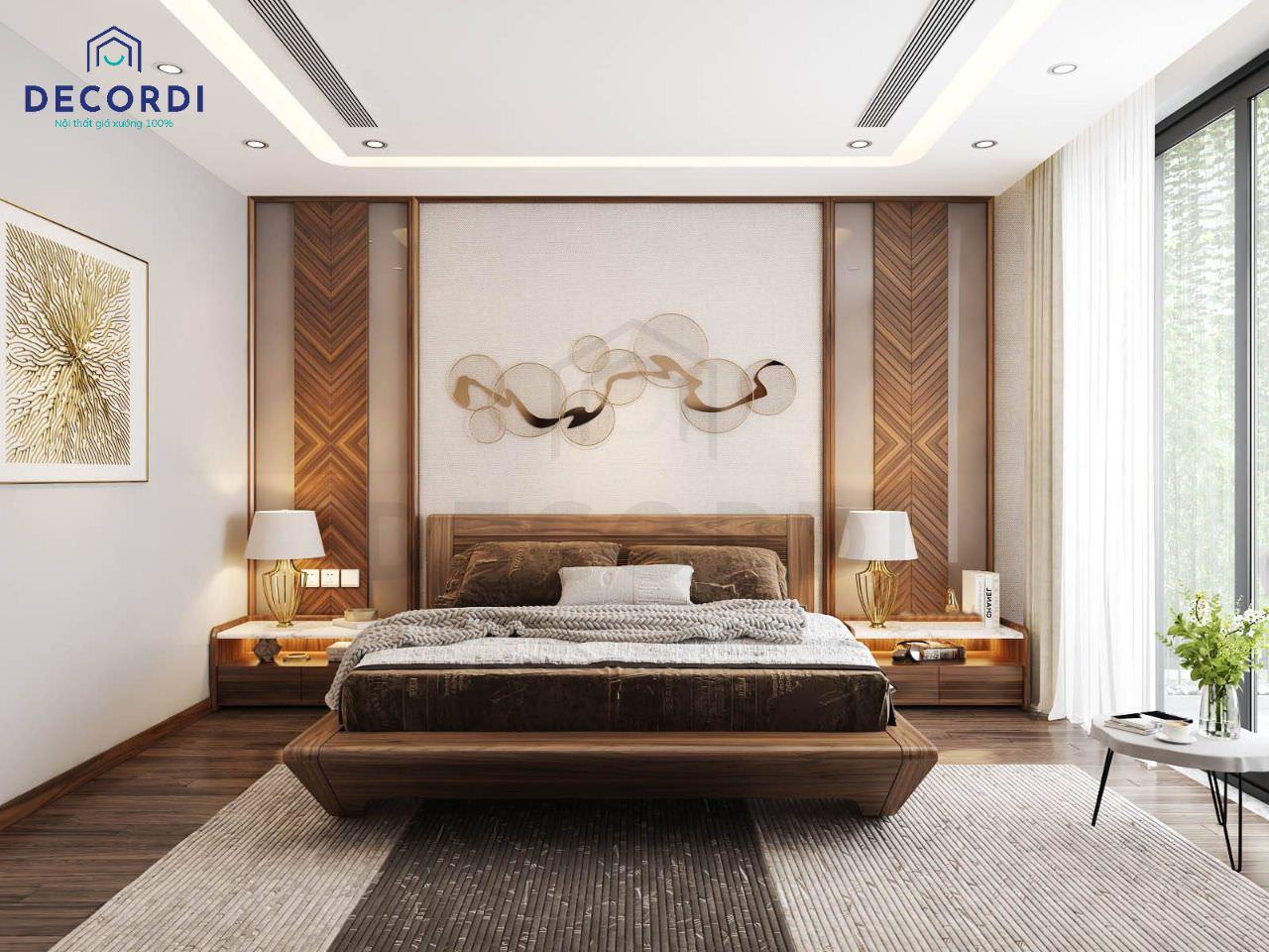 Mẫu phòng ngủ ông bà phong cách hiện đại, đảm bảo sự thông thoáng trong không gian