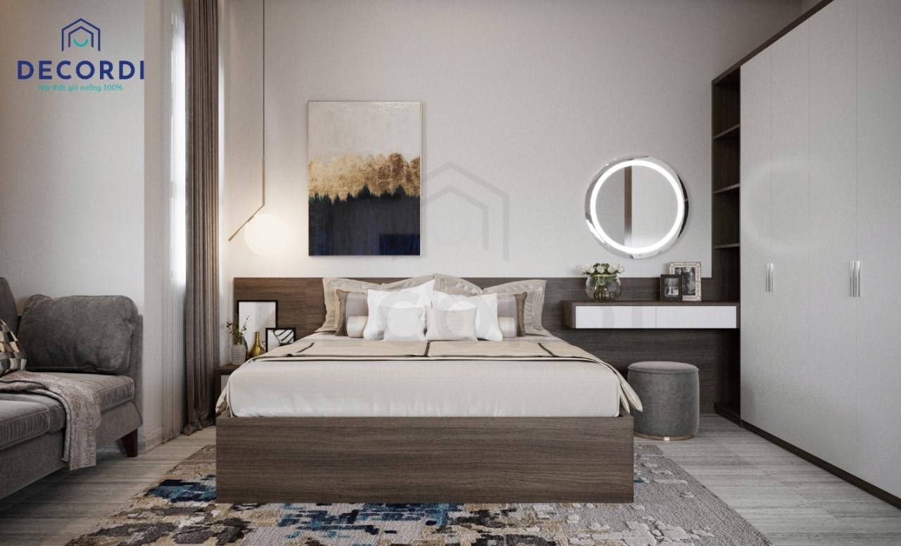 Thiết kế phòng ngủ hiện đại cho ông bà