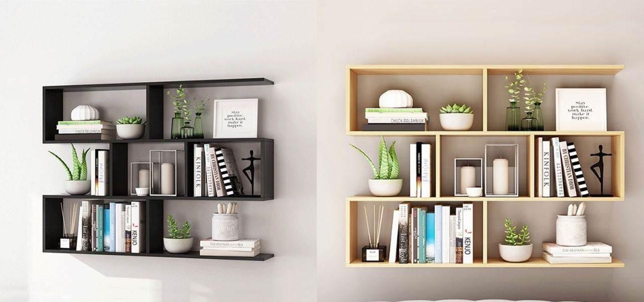 Kệ sách treo tường kiểu dáng độc đáo
