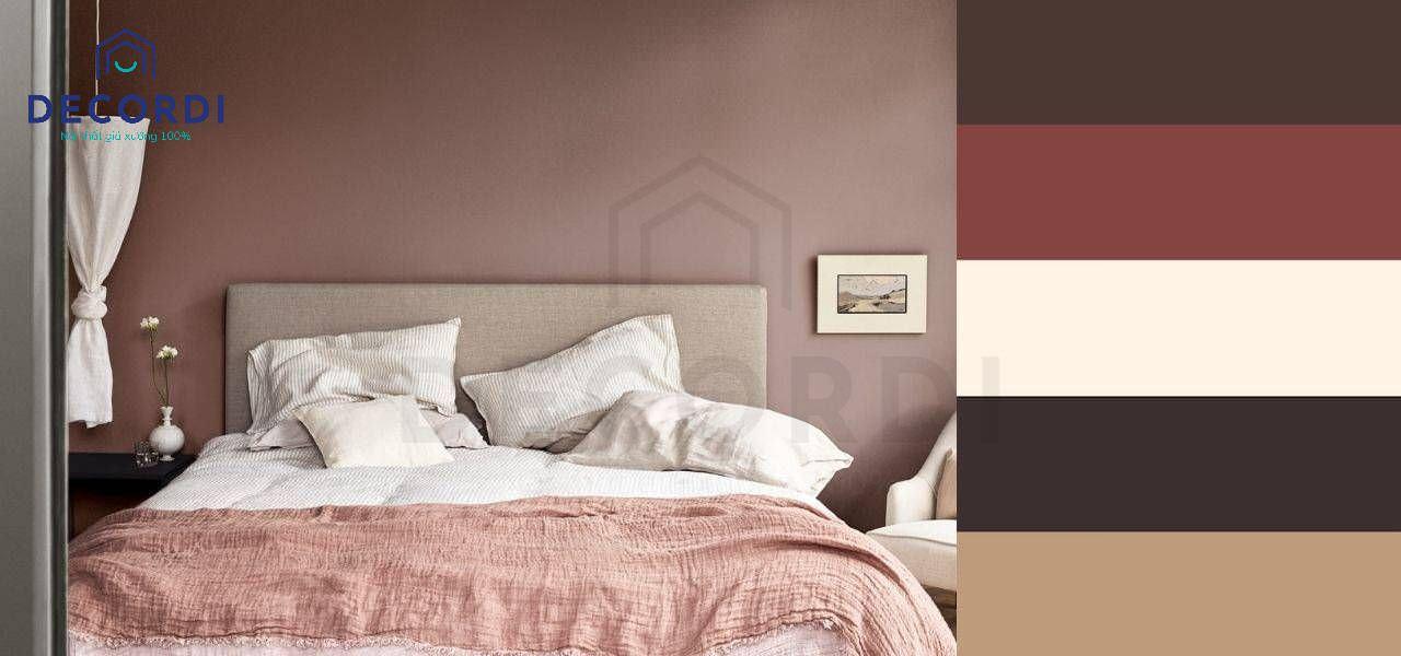 Màu sắc trầm phù hợp với phòng ngủ ông bà