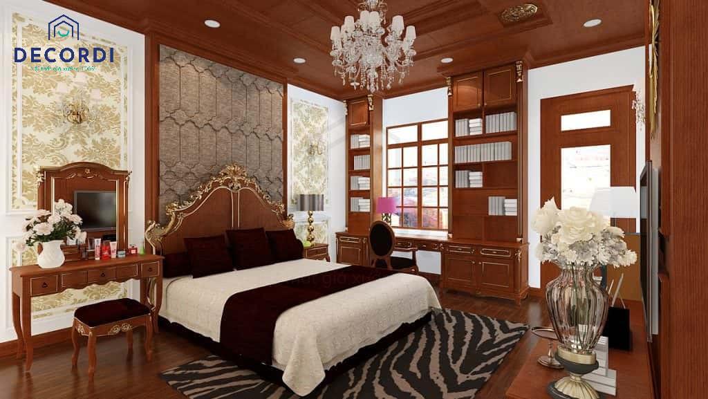 Mẫu phòng ngủ được trang trí cầu kỳ, tinh xảo trong từng đường nét