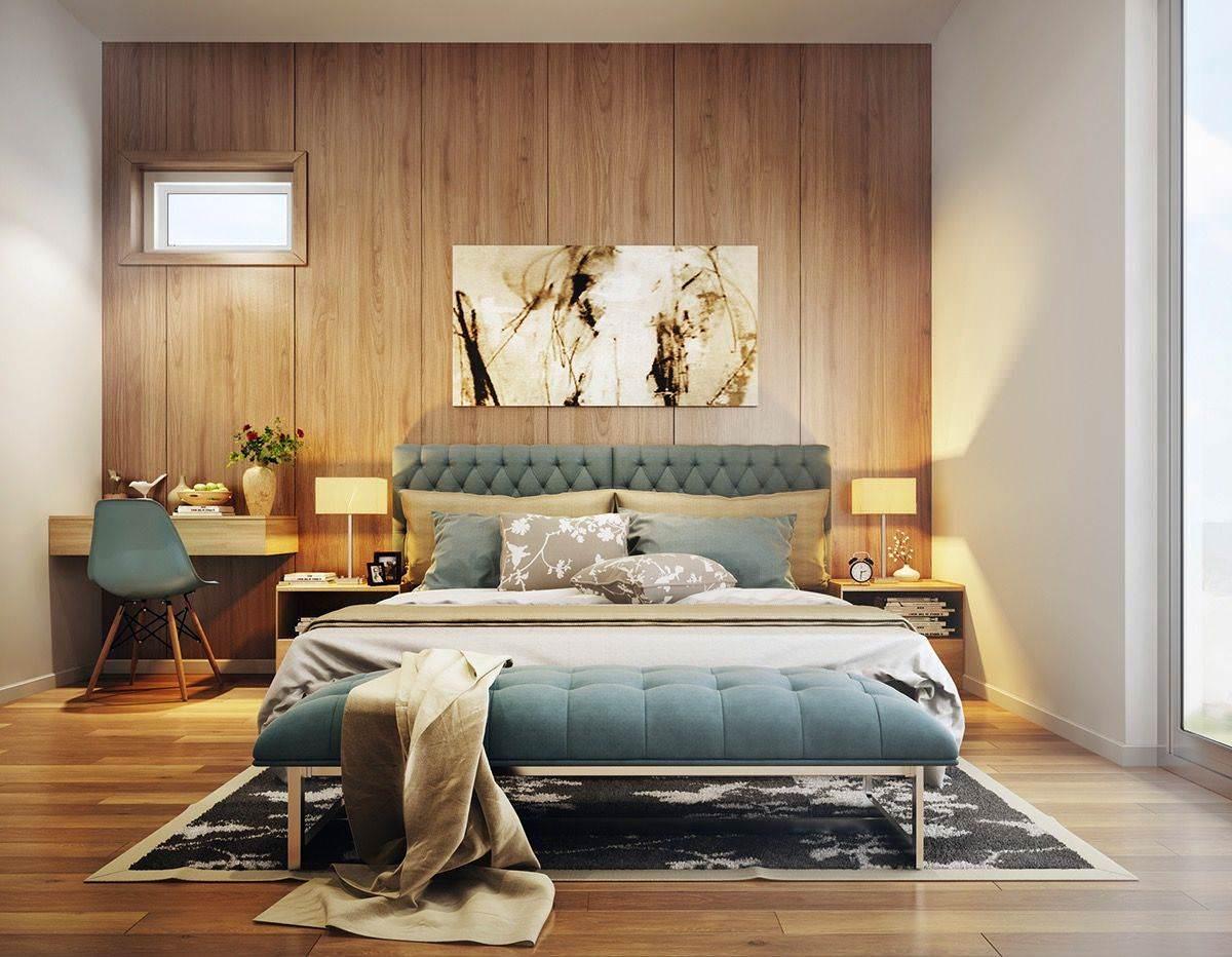 Phòng ngủ sang trọng với thiết kế vách ốp đầu giường đẹp