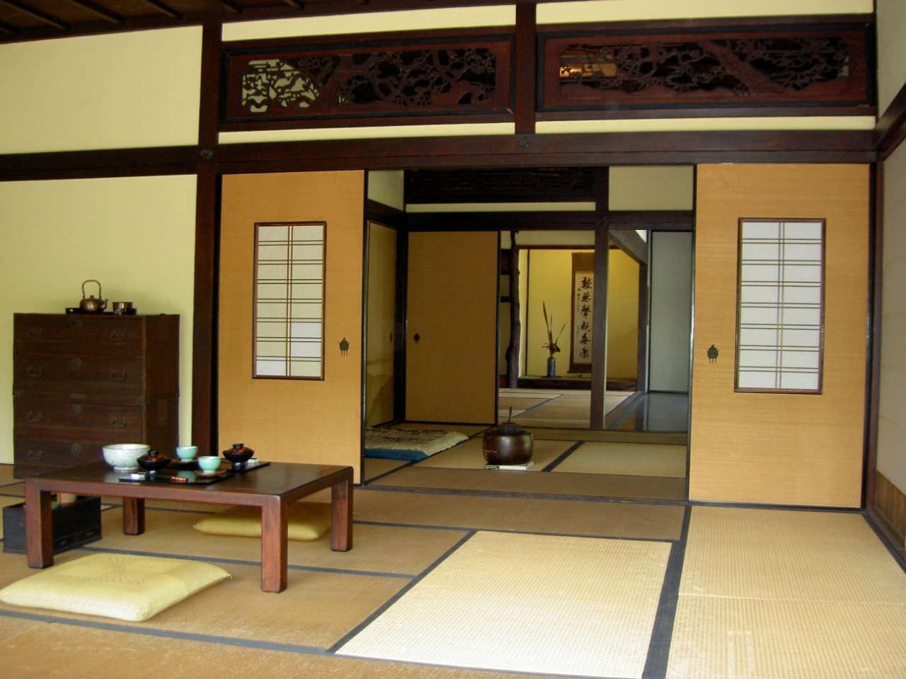 Chiếu Tatami đặt ở phòng khách trong những ngôi nhà Nhật Bản
