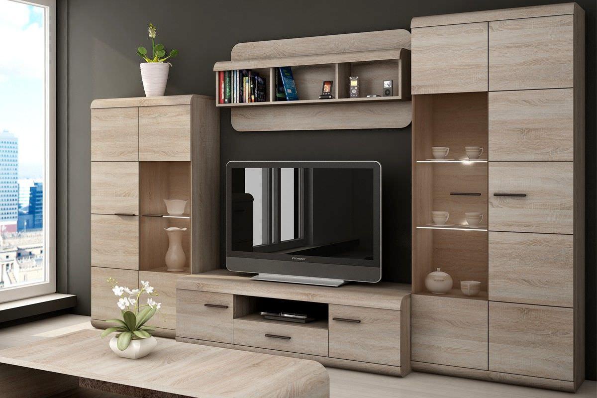 Thiết kế kệ tivi có các góc bo tròn đảm bảo an toàn cho nhà có trẻ nhỏ