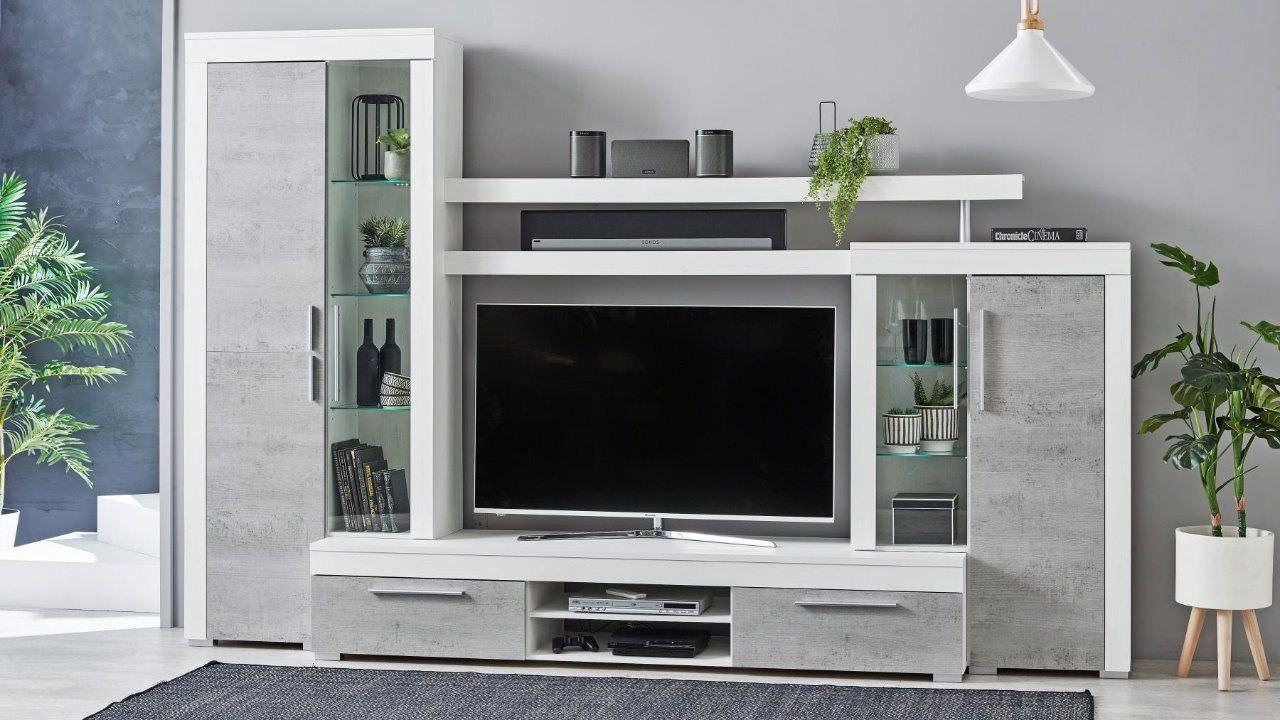 Thiết kế kệ tivi có tủ rượu đơn giản nhỏ gọn
