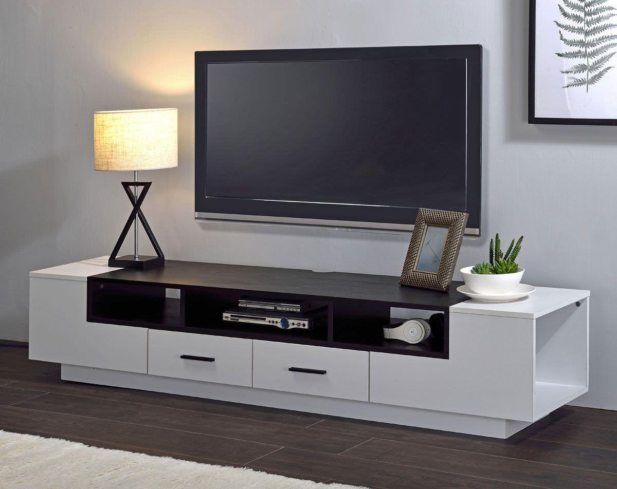 Kệ tivi đặt sát sàn màu trắng đẹp