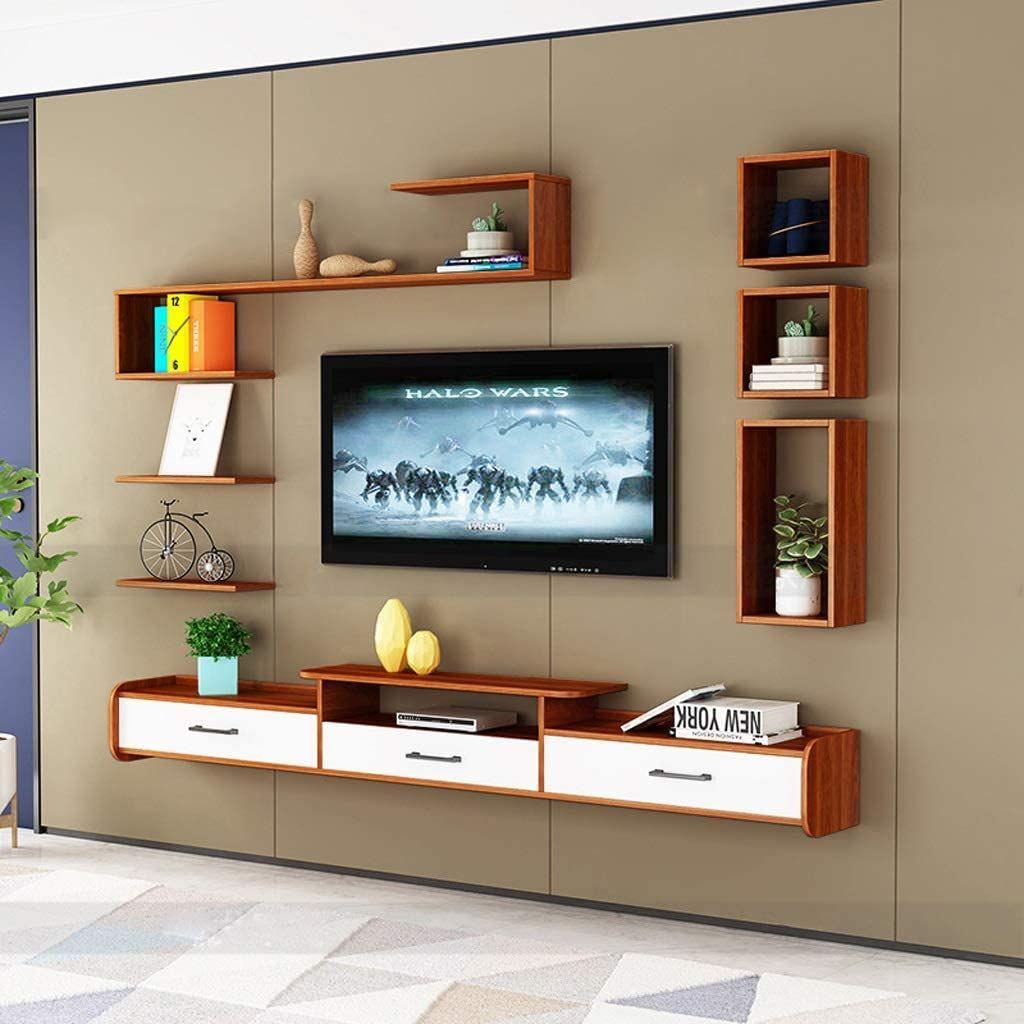 Kệ tivi treo tường có 3 ngăn kéo để đựng các thiết bị điều khiển
