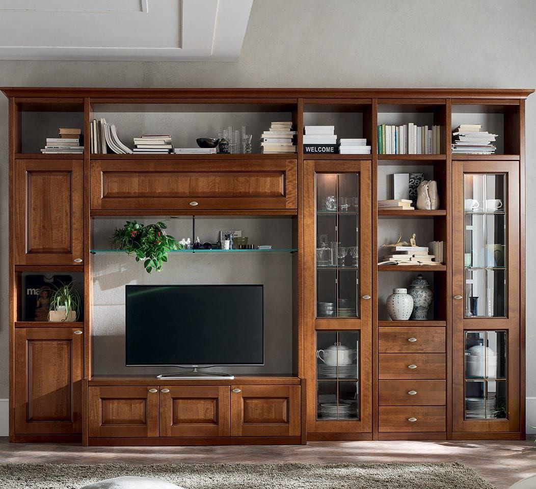 Tủ tivi lớn kết hợp tủ rượu và tủ trang trí