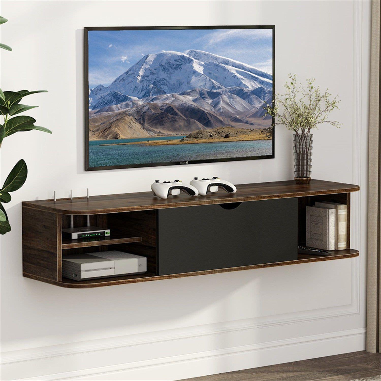 Mẫu kệ tivi thiết kế treo tường tiết kiệm diện tích