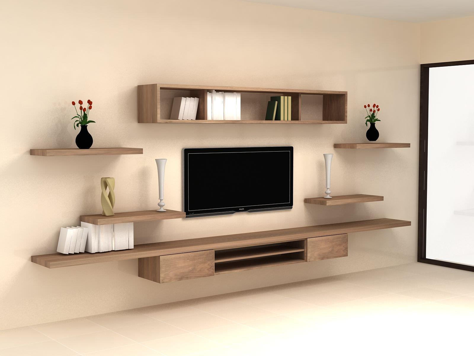 Kệ tivi treo tường kèm thanh kệ trang trí cho không gian thêm sinh động