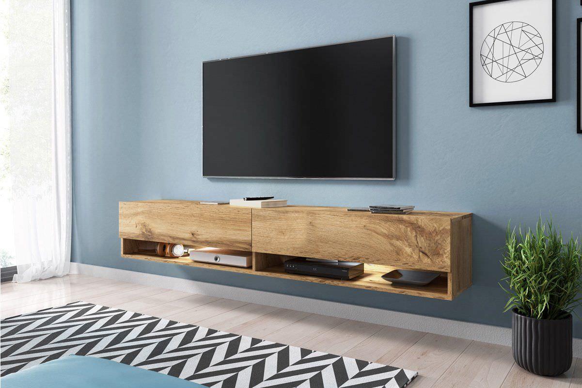 Kệ tivi treo tường gỗ sồi đẹp
