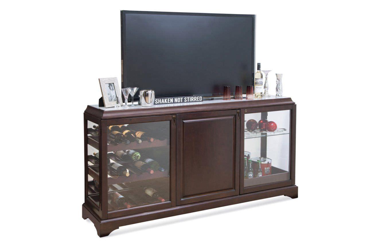 Kệ tivi kết hợp tủ đựng rượu cửa kính tiện dụng