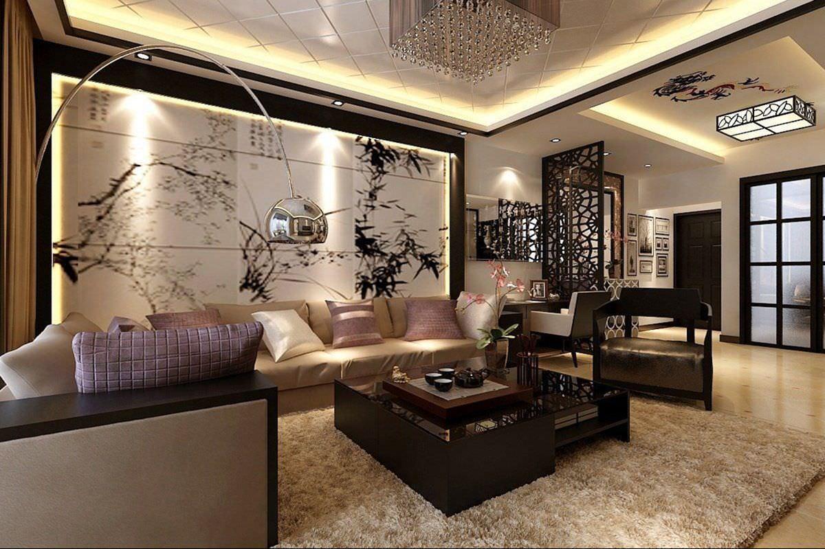 Thiết kế phòng khách kiểu Nhật phong cách hiện đại kết hợp cổ điển