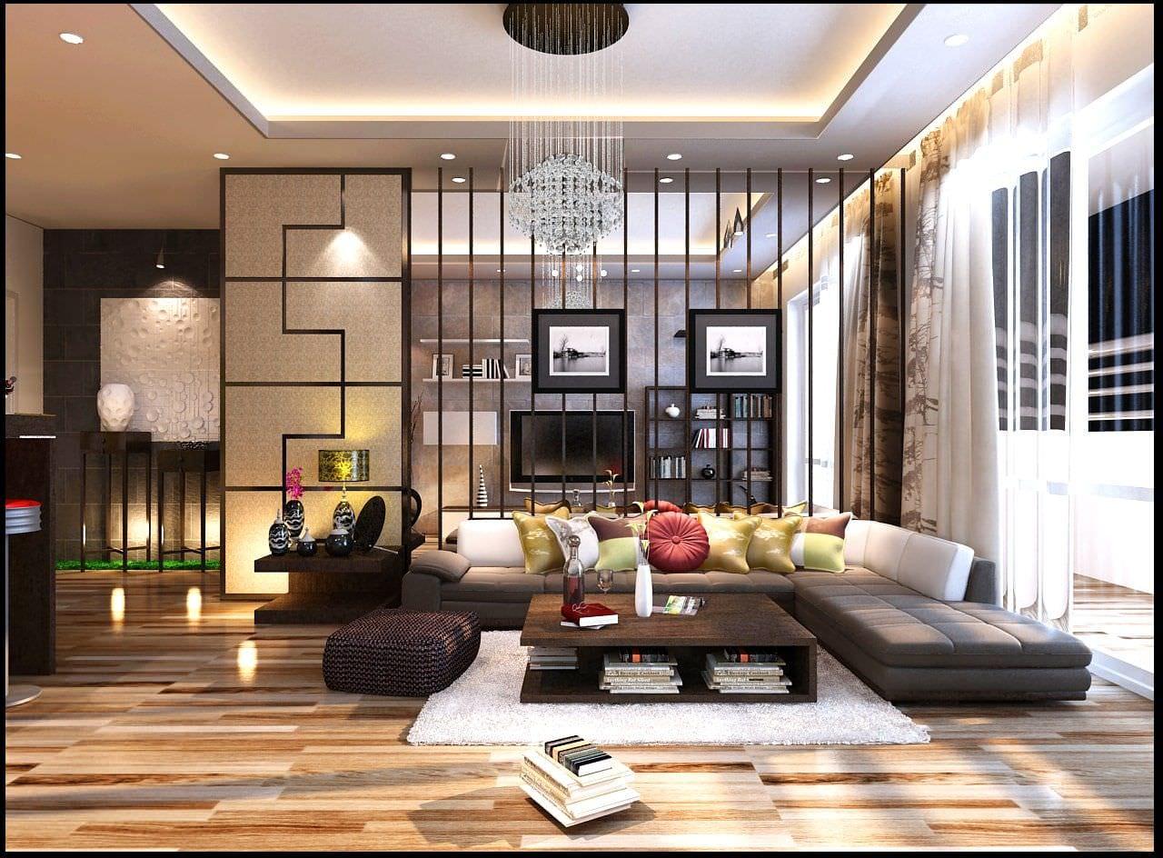 Bộ sofa và bàn trà đặc trưng cho phong cách Nhật Bản nhưng vẫn mang sự hiện đại, tiện nghi