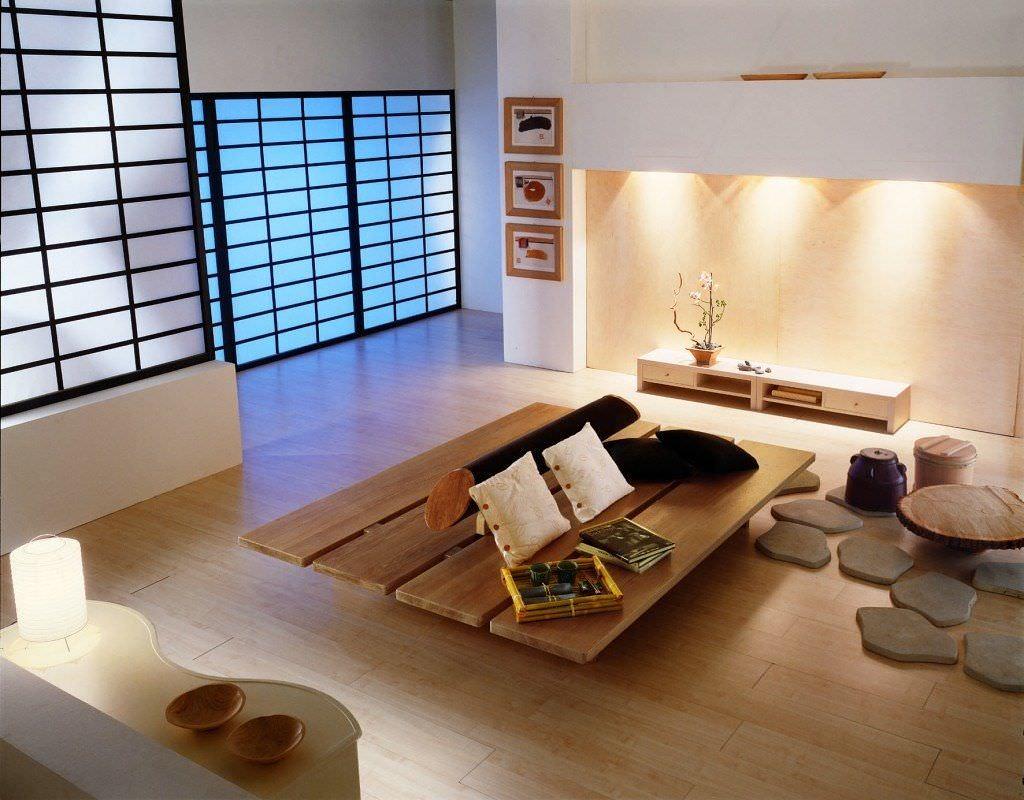 Phòng khách kiểu Nhật đơn giản, yên tĩnh mang đến sự thư thái cho gia chủ