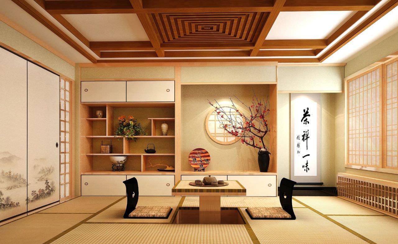Mẫu phòng khách kiểu Nhật đặc trưng thể hiện nét văn hoá và lối sống tối giản xứ Phù Tang