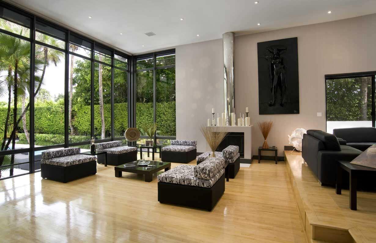 Thiết kế phòng khách hiện đại phong cách Nhật Bản cho nhà biệt thự đẹp