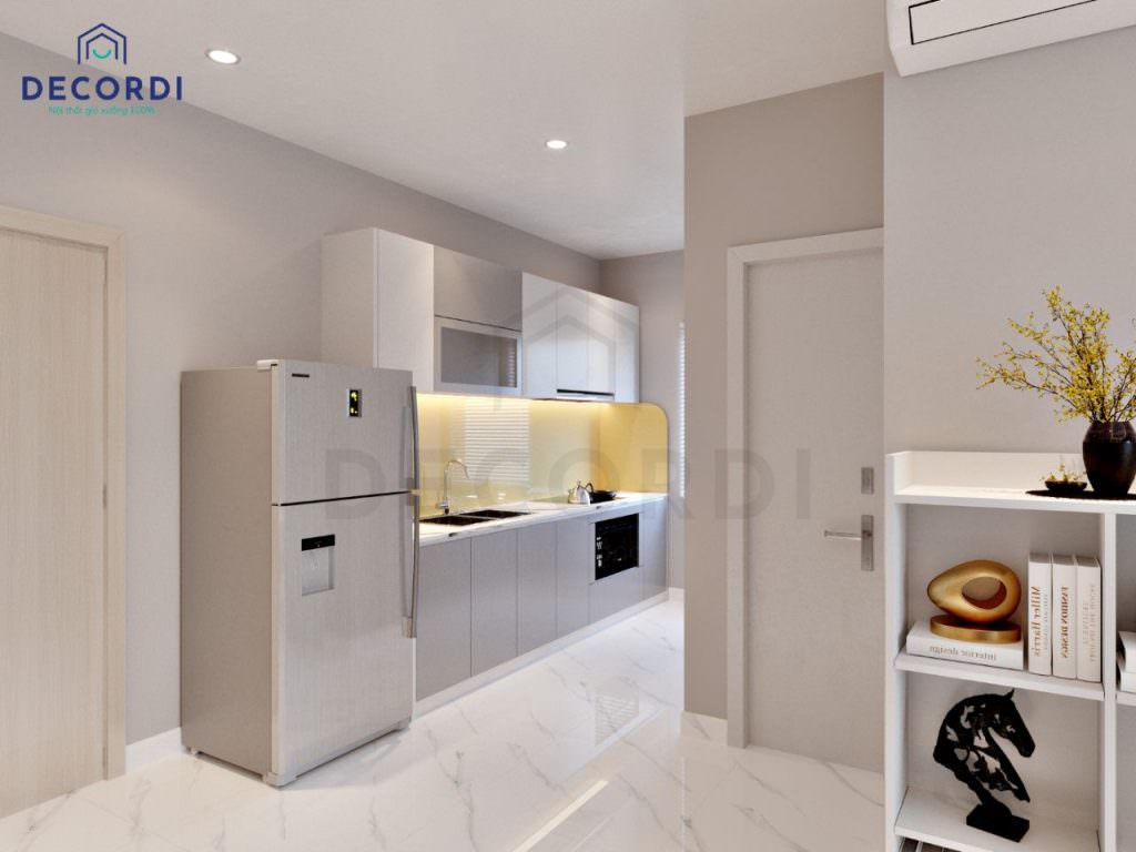 Khu vực phòng bếp được bố trí khoa học