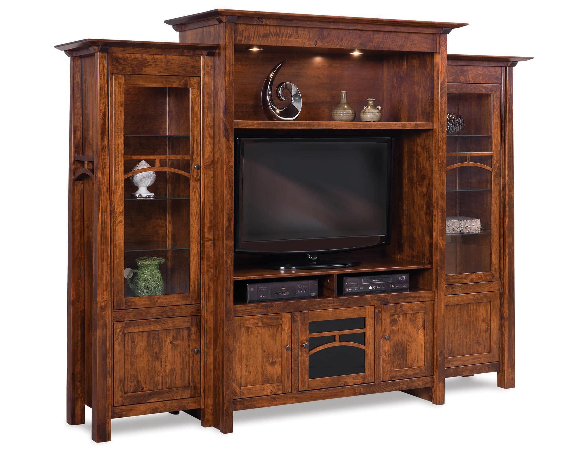 Mẫu tủ tivi kết hợp tủ rươu chất liệu gỗ tự nhiên bền đẹp