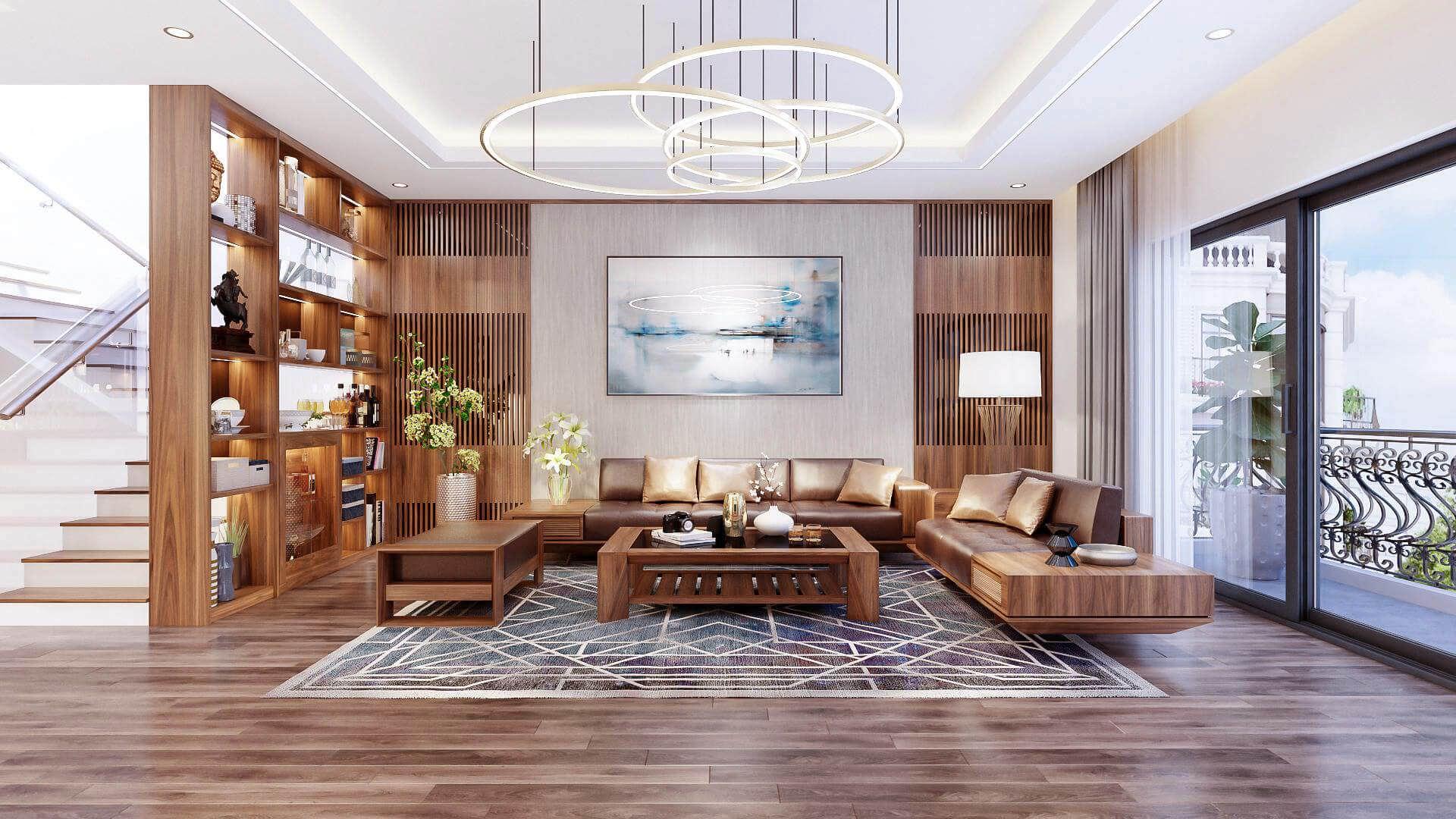 Sử dụng đồ nội thất gỗ truyền thống đem lại không gian sang trọng nhưng vô cùng ấm cúng