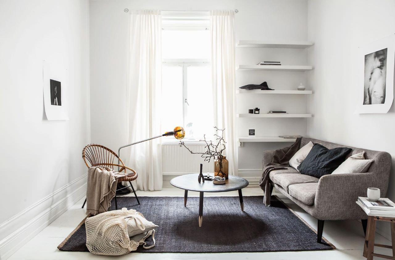 Cách bày trí đơn giản, tiết kiệm cho phòng khách chung cư nhỏ