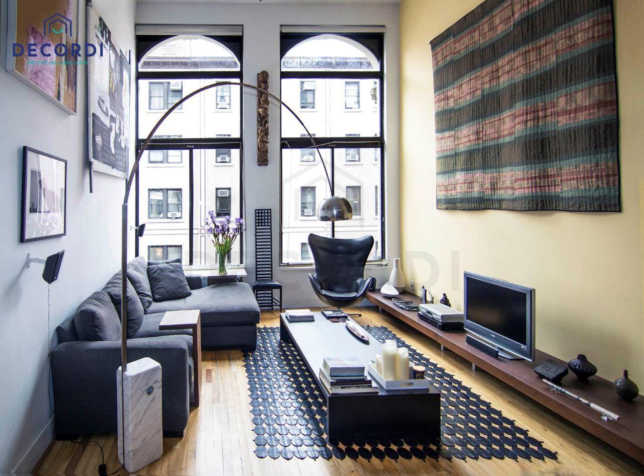 Bố trí phòng khách chung cư ở khu vực cửa sổ mang lại sự thông thoáng cho căn phòng
