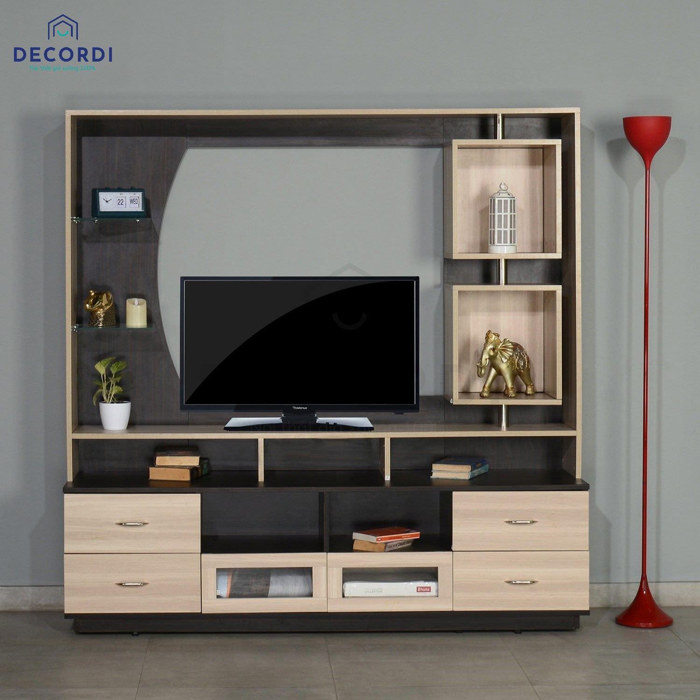 Mẫu kệ tivi đa năng thiết kế nhỏ gọn cho nhà chung cư